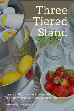 DIY Three Tiered Serving Stand