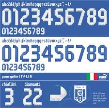 world cup fonts italia - Buscar con Google Football Fonts, Football Jerseys, Number Fonts, Silhouette, Typography Fonts, Words, Life, Campaign Ideas, Sport Design