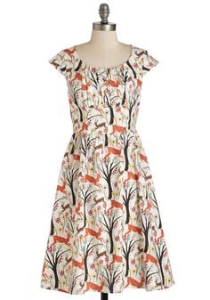 Greenhouse Gallivant Dress in Forest. As you roam down aisles of perennials and herbs, youre a picture of summertime chic in this printed A-line. #multi #modcloth