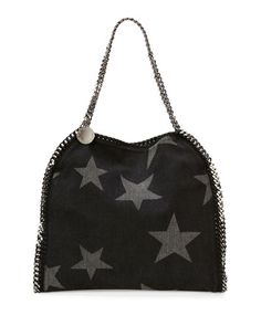 V2ZNS Stella McCartney Falabella Small Denim Star Tote 1fb40b7f8603c