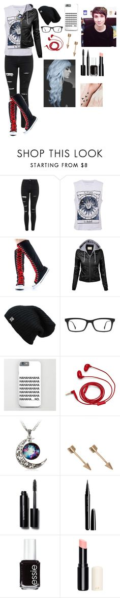 """""""Private Dan and Phil roleplay"""" by gglloyd ❤ liked on Polyvore featuring Topshop, Ray-Ban, FOSSIL, Bobbi Brown Cosmetics, Marc Jacobs and Essie"""