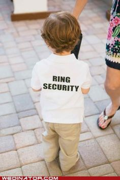 Having ring bearers wandering around in these and little macho-man sunglasses makes me smile a little too much, so it's getting pinned.