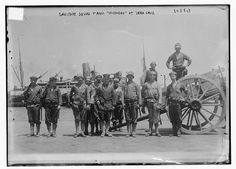 Photo: Sanitary squad from MICHIGAN at Vera Cruz,Mexico,military,1910-1915
