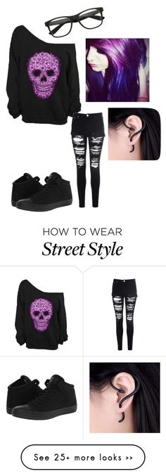 """Untitled #15"" by antisocialbandoms on Polyvore featuring moda, Glamorous y Converse"