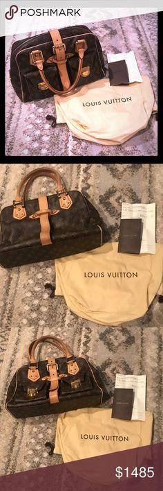 "Louis Vuitton ""the Manhattan!"" Louis Vuitton monogram buckle handbag! Previously loved! Great condition! Comes with its authentic dust bag Louis Vuitton Bags Shoulder Bags"