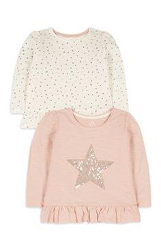 Baby Girl 2Pack Long Sleeve Star Tops