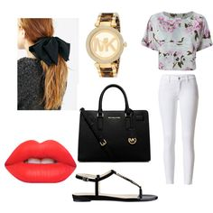 Untitled #14 by millie-huerta on Polyvore featuring polyvore fashion style adidas Originals Nine West Michael Kors Lime Crime