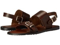 a2b39757d8e3 Massimo Matteo Two Band Sandal Marrone - Zappos.com Free Shipping BOTH Ways  Flat Sandals