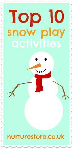 Top 10 snow play activities