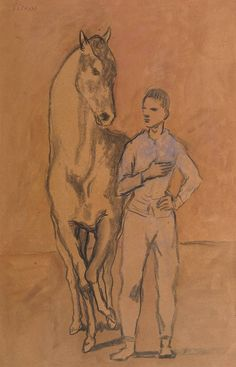 """Pablo Picasso (1881-1973), """"Horse with a Youth in Blue"""""""