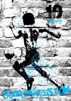 Maradona Graffiti wall Socceratees.com