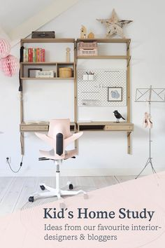 With a few simple ideas, it's easy to inject some personality into your personal home office, whilst maintaining a productive workspace, when working from home. Large Bookshelves, Colour Consultant, Adjustable Height Desk, Home Office Chairs, Workspace Design, Scandinavian Living, Colorful Furniture, Kids House, Office Ideas