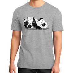 Geometric Baby Panda District T-Shirt (on man)