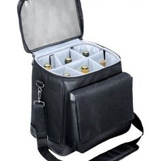 Wine Carrying Tote Bag Travel Case Picnic Six Bottle Cooler Camping Carrier Gift #PicnicTime