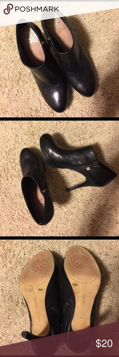 VINCE CAMUTO ANKLE BOOTS Size 61/2, very good quality leather and condition, 4 inches heels Vince Camuto Shoes Ankle Boots & Booties