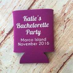 Bachelorette Party Favors - Bachelorette Party - Bachelorette Can Coolers - Wedding Favors - Personalized Bridesmaid Gift