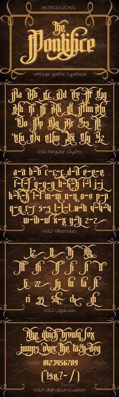 The Pontifice. Blackletter Fonts