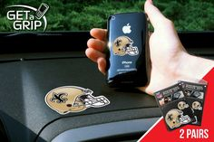 "New Orleans Saints Get a Grip 2 Pack - Let your favorite team get a grip on your device! Never wonder where your phone is again. This new product innovation utilizes two polymer grips that adhere to each other leaving you hands free. UAV Resistant. No residue left behind. Now comes in a 2 Pack FANMATS Series: 2GETAGRIPTeam Series: NFL - New Orleans SaintsProduct Dimensions: small 1.5"" / large 3""Shipping Dimensions: 8""x6""x1"". Gifts > Licensed Gifts > Nfl > New Orleans Saints. Weight: 0.50"
