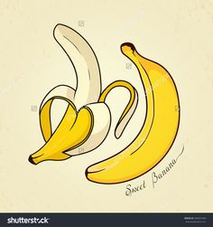Cute banana. Vector illustration