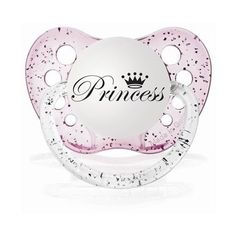 Little\ Loungers Personalized Baby Girl Princess Pacifier (16 BRL) ❤ liked on Polyvore featuring baby, baby stuff, baby girl, kids and pacifiers