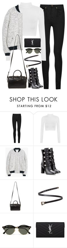 """Untitled#4476"" by fashionnfacts ❤ liked on Polyvore featuring Yves Saint Laurent, WearAll, MANGO, Isabel Marant and Ray-Ban"