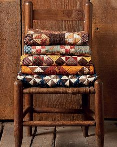 A lovely little stack of quilts from Jo Morton's new book, Jo's Little Favorites II - coming in May. @joquilts #joslittlefavoritesII #jomorton #littlequilts #patchwork