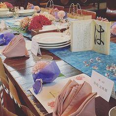 コンセプトは、空華-sorahana-  空に華が咲き誇る時、 ふたつは溶け合ってひとつになる。  #sorahana #crazywedding #wedding #originalwedding #weddingdecoration #japanesewedding #japan #japanart #flower #flowerart #クレイジーウェディング #和モダン #guesttable #オリジナルウェディング #結婚式 #結婚準備