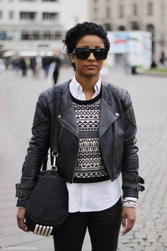 black/shades/bag/leather/pow