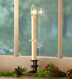 Main image for LED Suction Cup Window Candle with Auto Timer