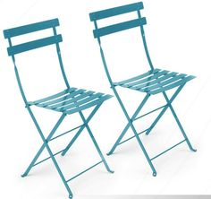 "TURQUOISE METAL CAFE FOLDING CHAIR    Product #: CHA-007-TURQ  Dimensions: 14 3/4'' SQ x 32 1/2 H''; Seat 15""SQ x 18""H  Pieces Avail: 8"