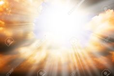 Heaven Religion Concept - Sun Rays Through The Clouds Stock Photo ...