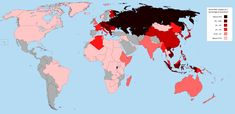 World War 2 deaths as a percentage of each nation's population (Census, World Wars)