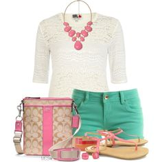 Preppy by mclaires on Polyvore featuring polyvore, fashion, style, Coach, Forever 21, Lane Bryant, Chelsea Girl and Kate Spade