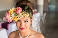 Modern Colourful Wedding /  Colorful floral crown / Huong Forrest Photography