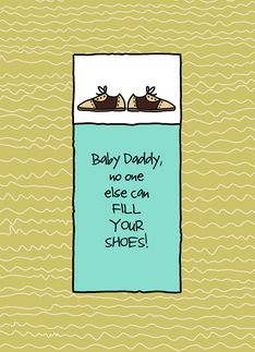 Father's Day Greeting card for your Baby Daddy by Corrie Kuipers
