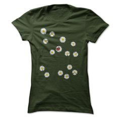 (Tshirt Most Sale) Cute Ladybug and Daisies T Shirt  Discount Hot  Floral tee shirt featuring a ladybug on a yellow daisy.  Tshirt Guys Lady Hodie  SHARE and Get Discount Today Order now before we SELL OUT  Camping ladybug and daisies t shirt
