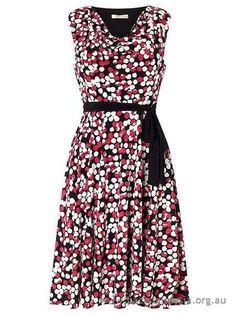 Precis Petite Spot Cowl Jersey Dress Multi-Coloured - Women's Dresses Online - 4123213