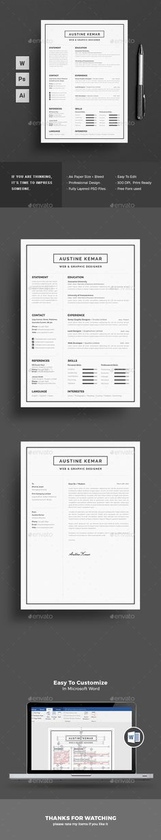 Creative and modern resume templates More #professional #resumes - professional resumes