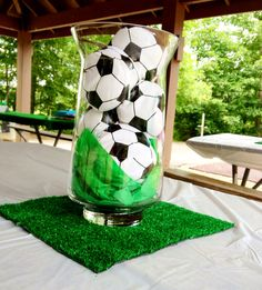 Soccer center piece.
