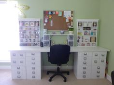 Michaels storage cubes and making memories embellishment centers love this clean look