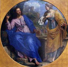 Jésus et la Samaritaine; Philippe de Champaigne; 1648 huile sur toile, Musée des beaux Arts, Caen