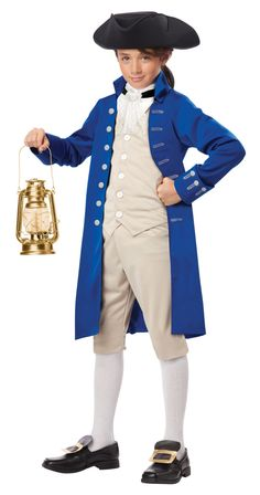 Paul Revere Kids Historic Costume - Mr. Costumes