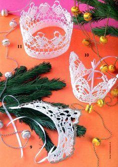 Beautiful crowns crochet for little girls, free crochet patterns