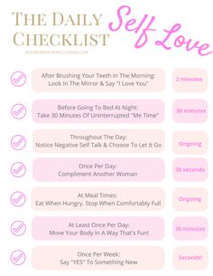 Download your free checklist, to be used with the series: 7 Ways To Love Your Body & Life This Week.