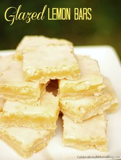 Glazed Lemon Bars...loved them so much, that we made 4 batches in 1 weekend!! YUM
