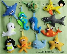 More felt fish and other under-the-sea felt friends Sea Crafts, Diy And Crafts, Arts And Crafts, Felt Patterns, Craft Patterns, Sewing Crafts, Sewing Projects, Projects To Try, Felt Fish