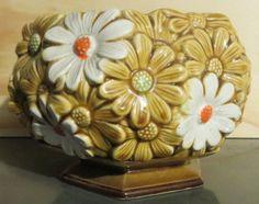 Vintage Relpo PlanterDaisy Yellow and White by oZdOinGItagaiN, $15.00