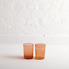 A pair of hand-blown juices glasses by Michael Ruh