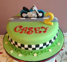 Motorbike cake for a  little boy who was 2.