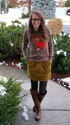 Love the fox sweater and pretty much everything!